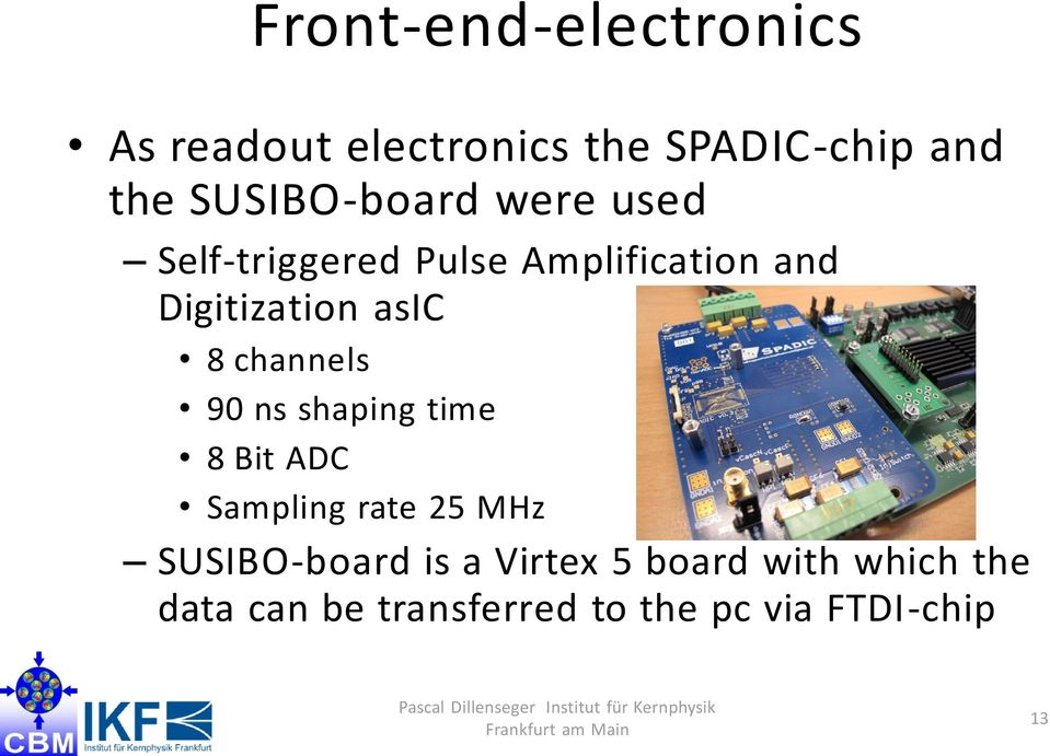 asic 8 channels 90 ns shaping time 8 Bit ADC Sampling rate 25 MHz
