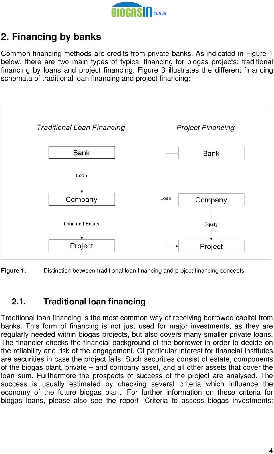 Figure 3 illustrates the different financing schemata of traditional loan financing and project financing: Figure 1: