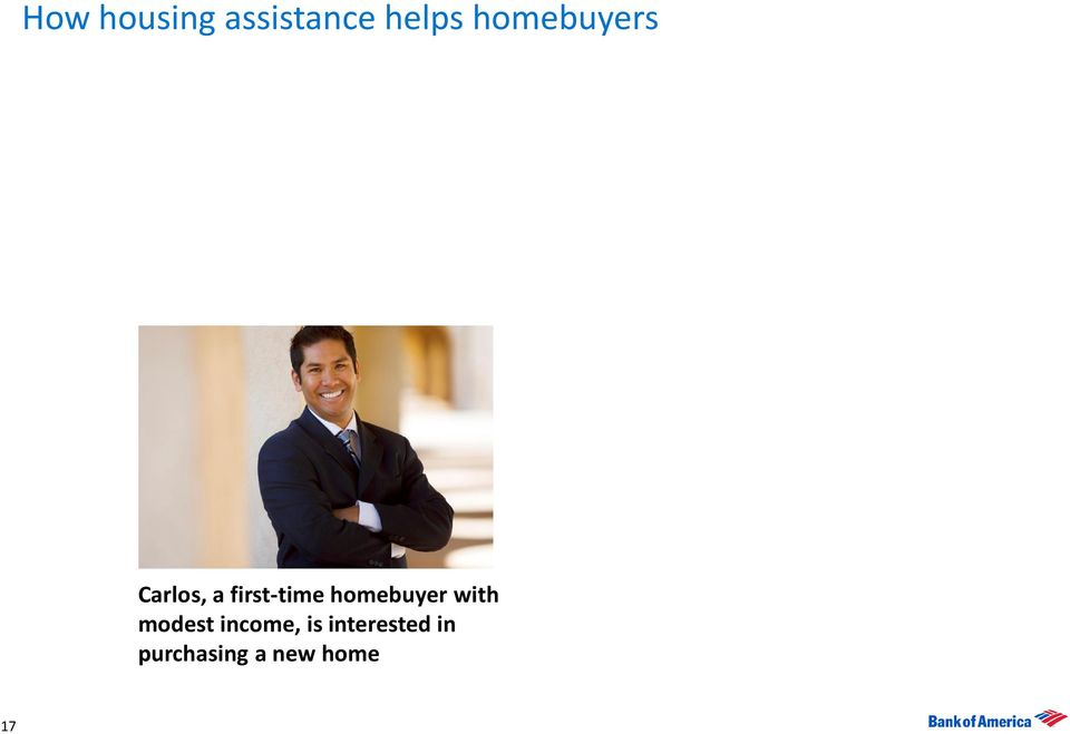 homebuyer with modest income, is