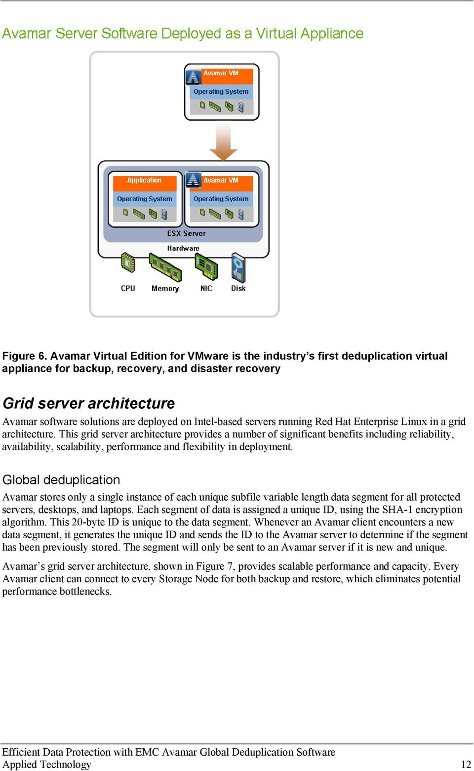 on Intel-based servers running Red Hat Enterprise Linux in a grid architecture.