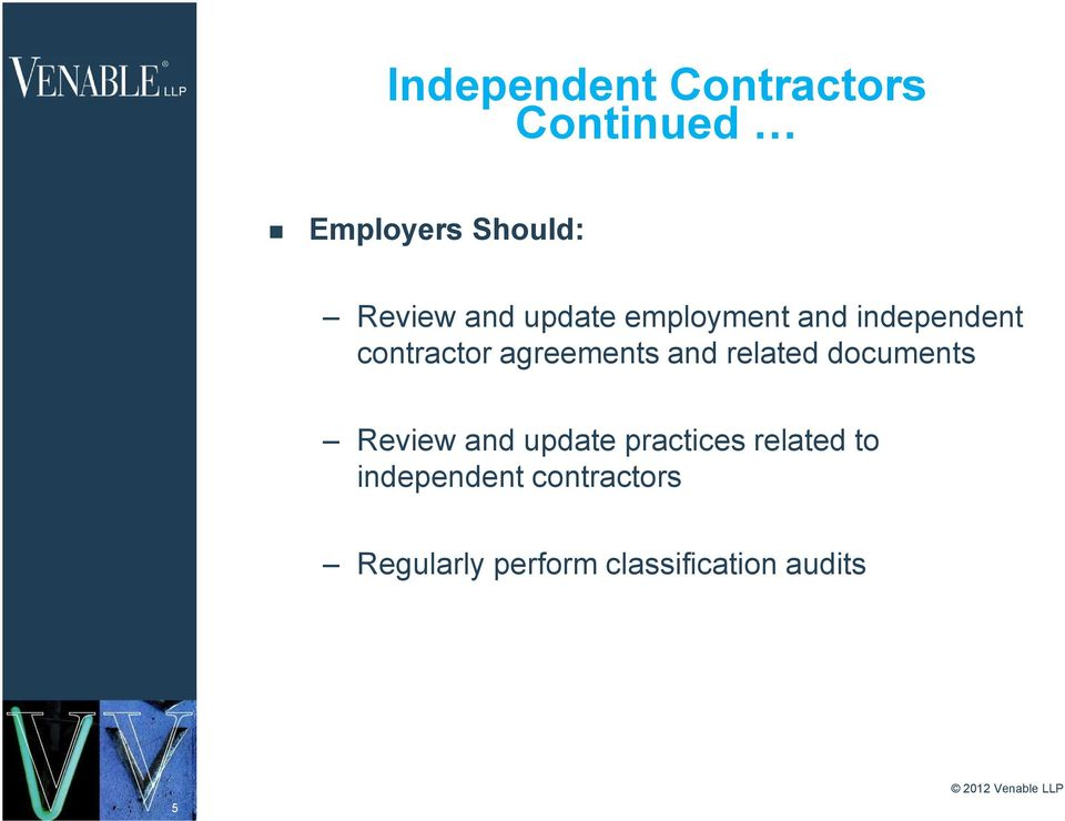and related documents Review and update practices related to