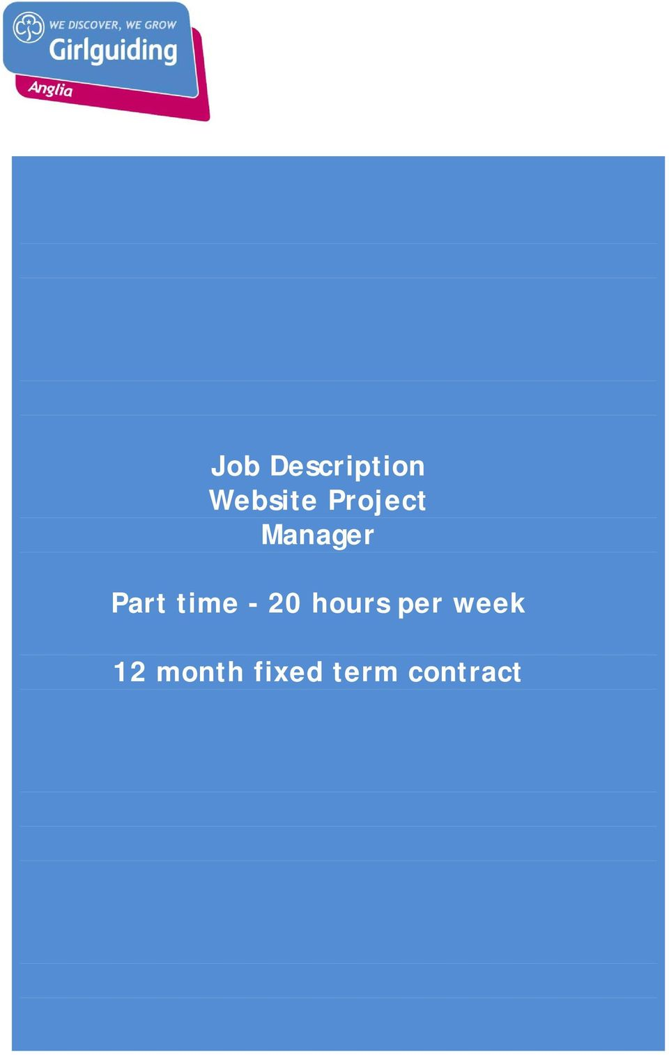 time - 20 hours per week