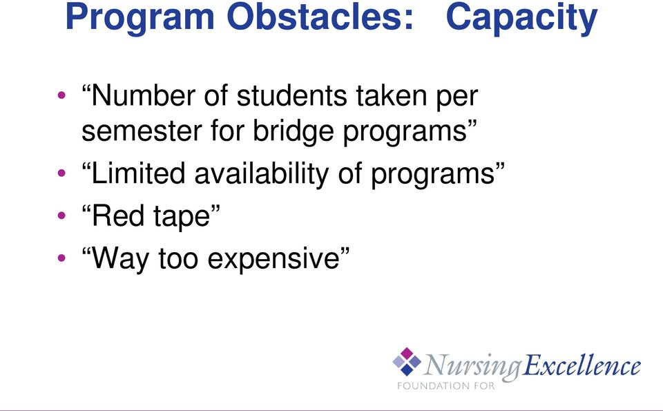 bridge programs Limited availability