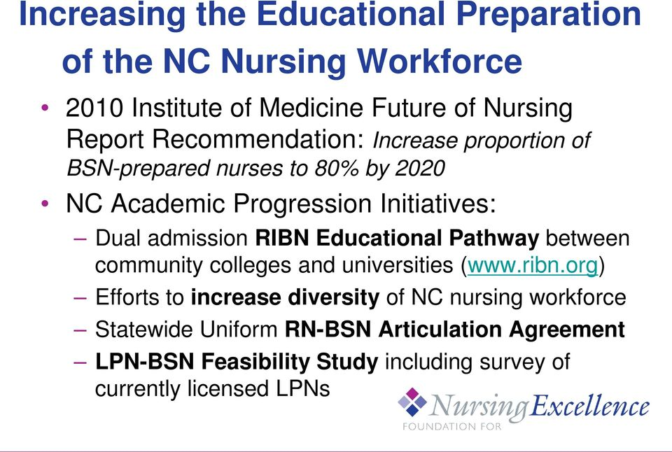 admission RIBN Educational Pathway between community colleges and universities (www.ribn.