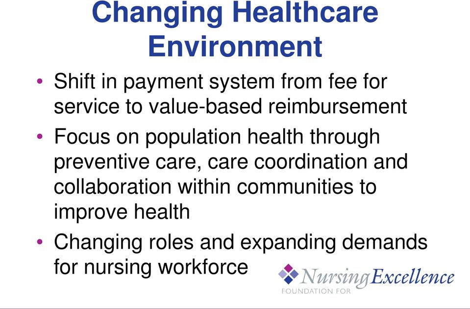 preventive care, care coordination and collaboration within communities