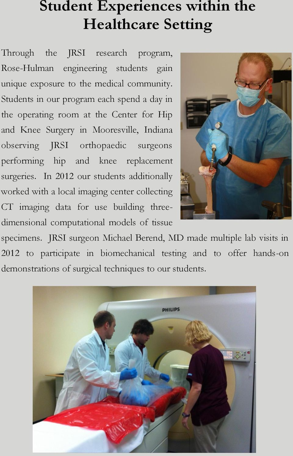 knee replacement surgeries.