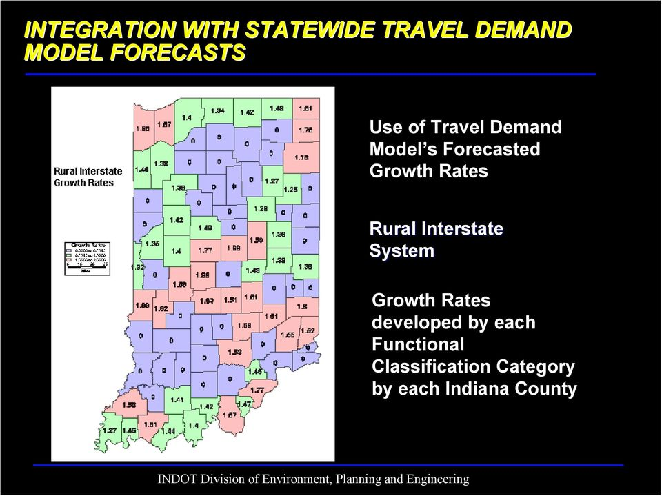 Growth Rates Rural Interstate System Growth Rates