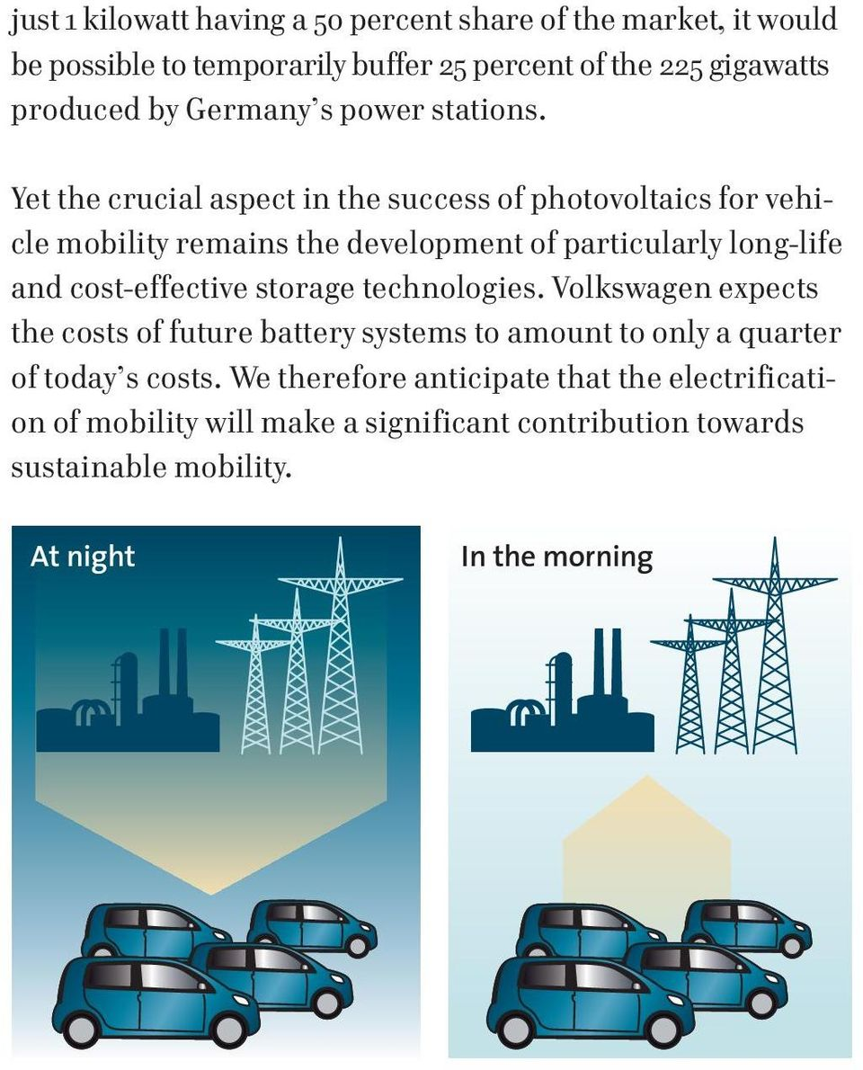 Yet the crucial aspect in the success of photovoltaics for vehicle mobility remains the development of particularly long-life and cost-effective