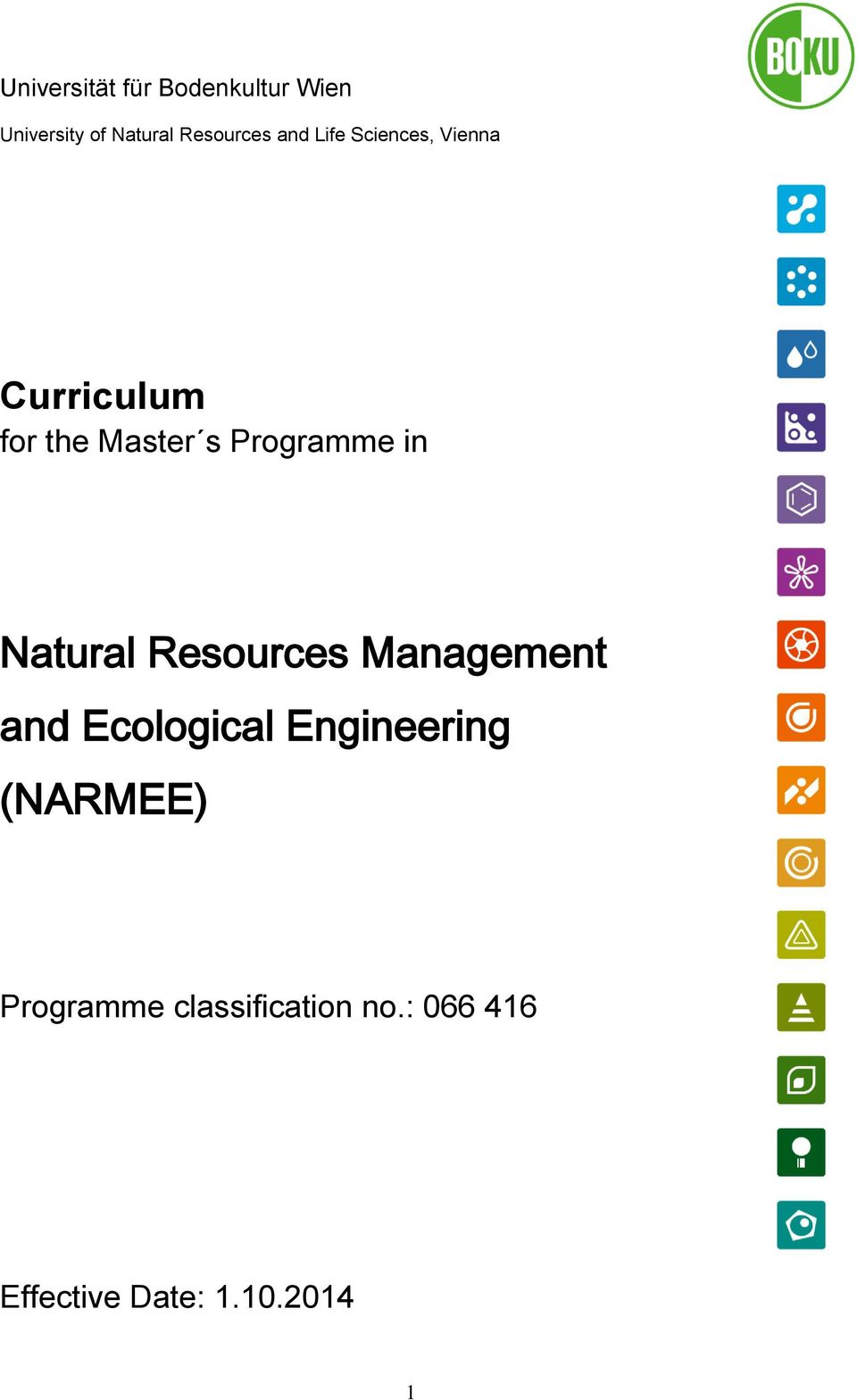 in Natural Resources Management and Ecological Engineering