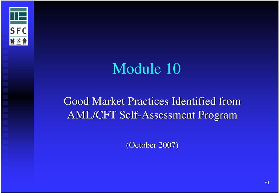 from AML/CFT