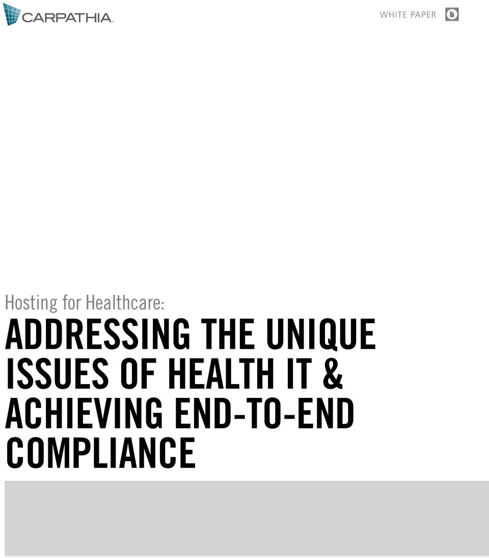 ISSUES OF HEALTH IT &