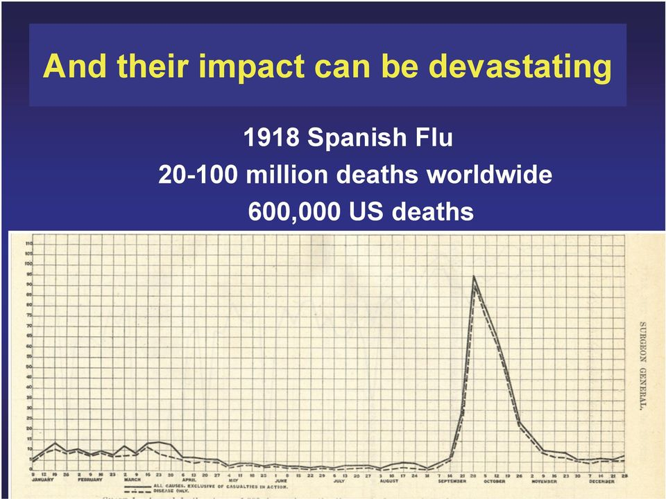 Flu 20-100 million deaths