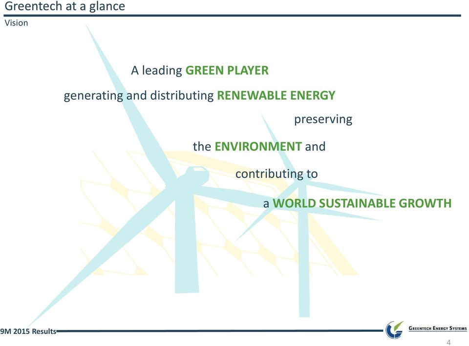 RENEWABLE ENERGY preserving the
