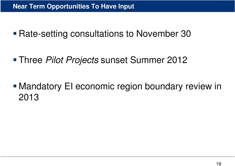 Three Pilot Projects sunset Summer 2012