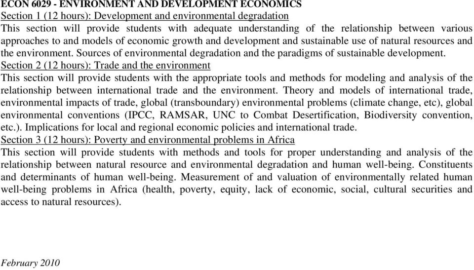 Sources of environmental degradation and the paradigms of sustainable development.