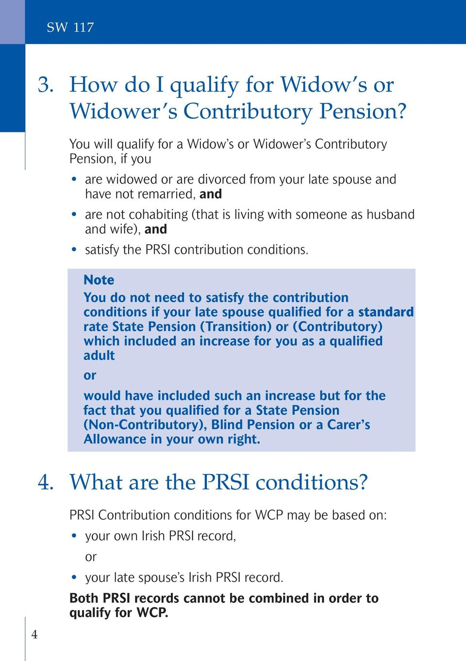 as husband and wife), and satisfy the PRSI contribution conditions.