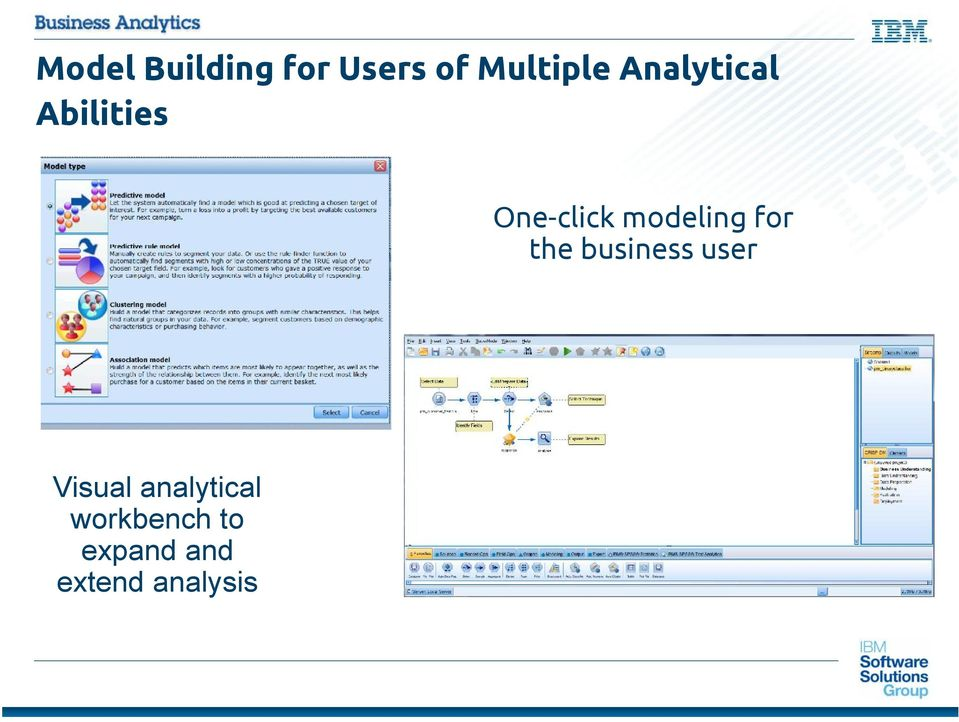 modeling for the business user Visual