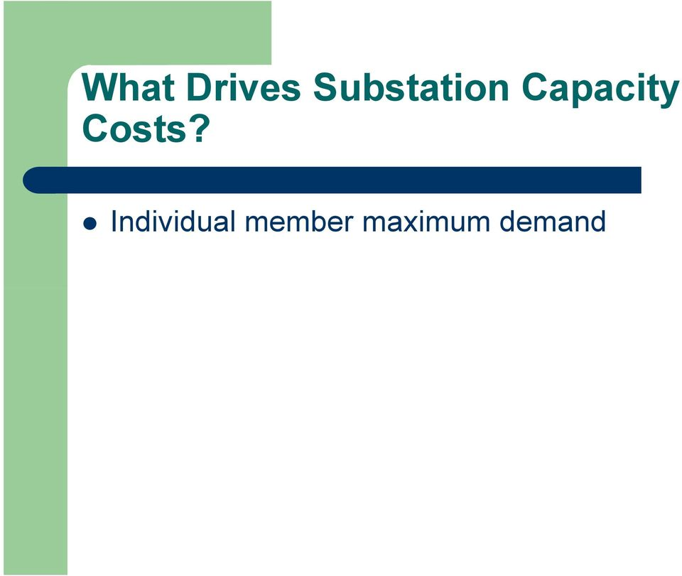 Capacity Costs?