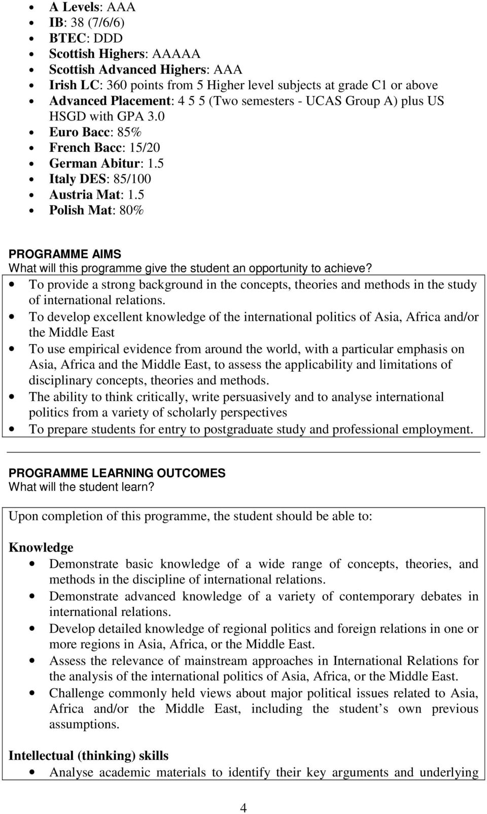 5 Polish Mat: 80% PROGRAMME AIMS What will this programme give the student an opportunity to achieve?