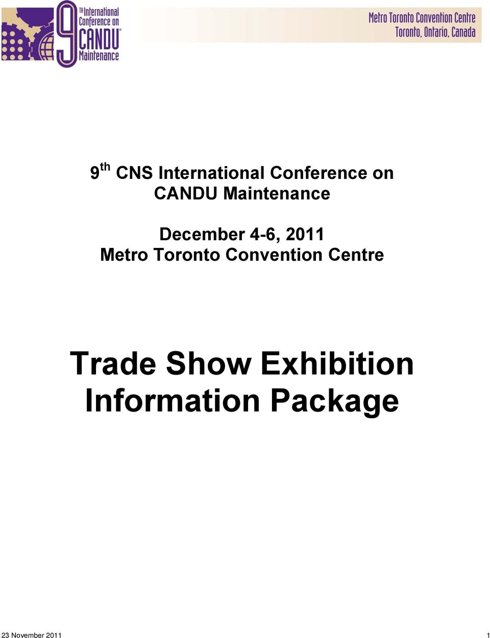 Metro Toronto Convention Centre Trade