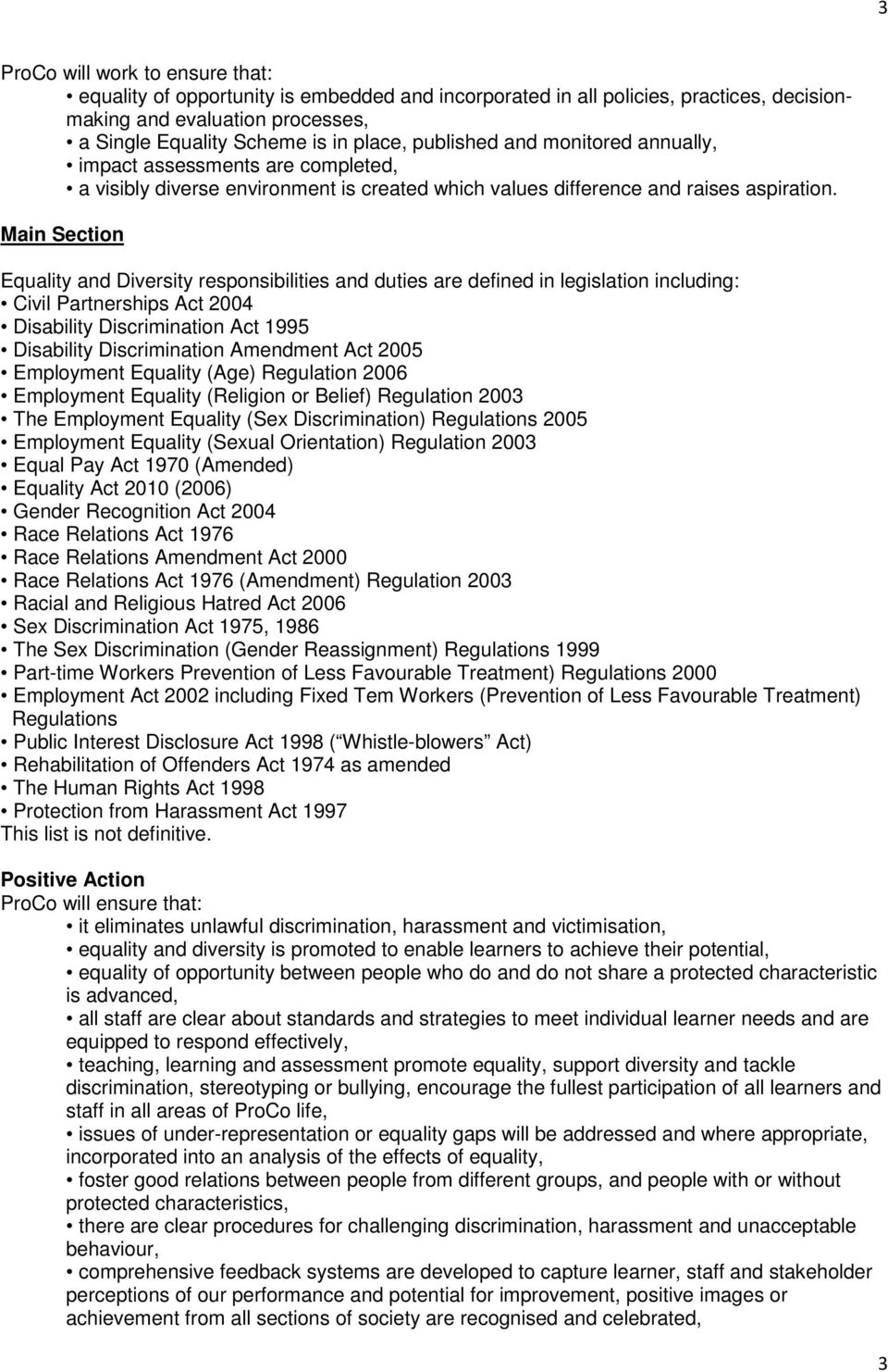 Sex discrimination act amendment 2003