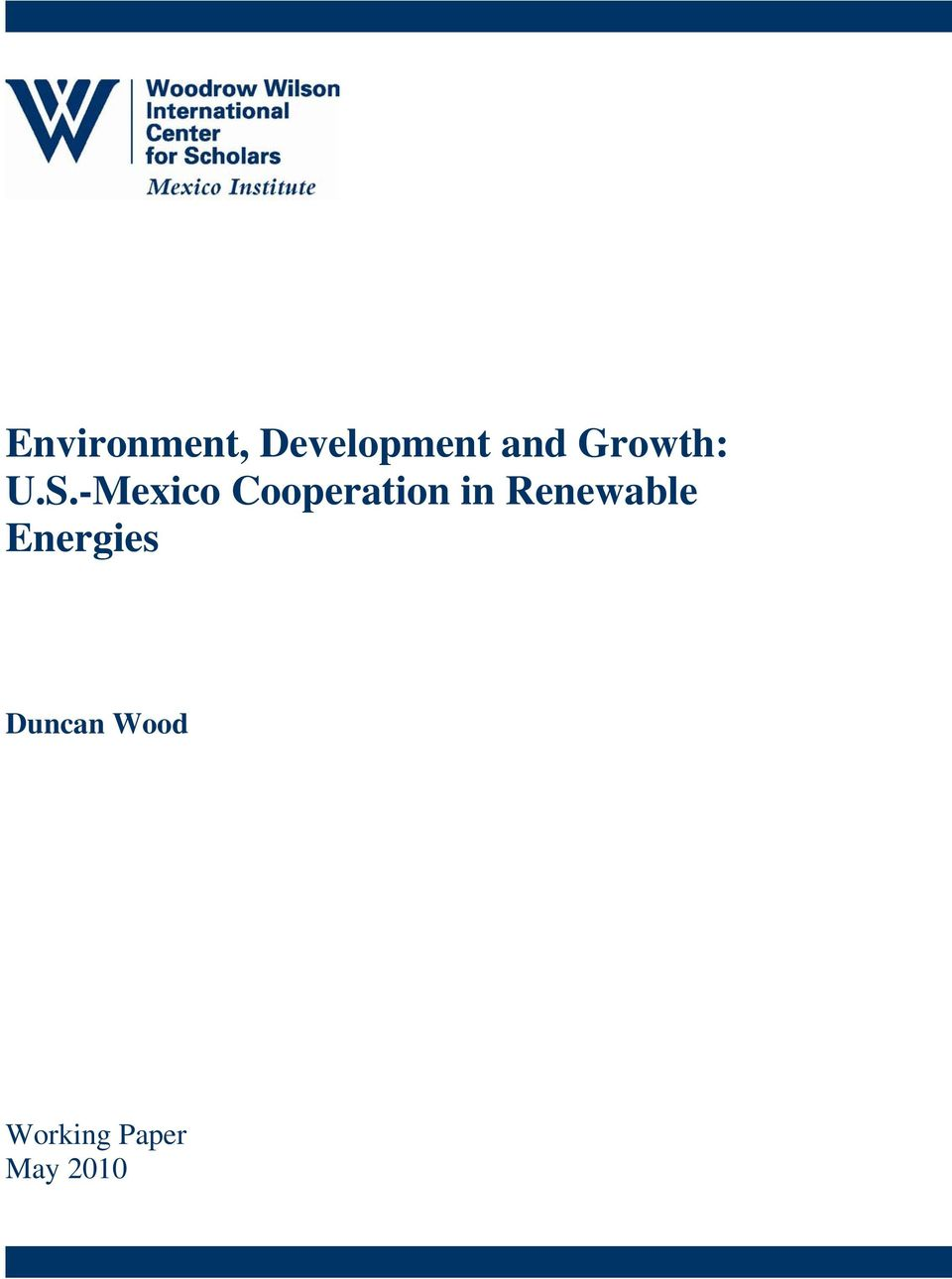 -Mexico Cooperation in