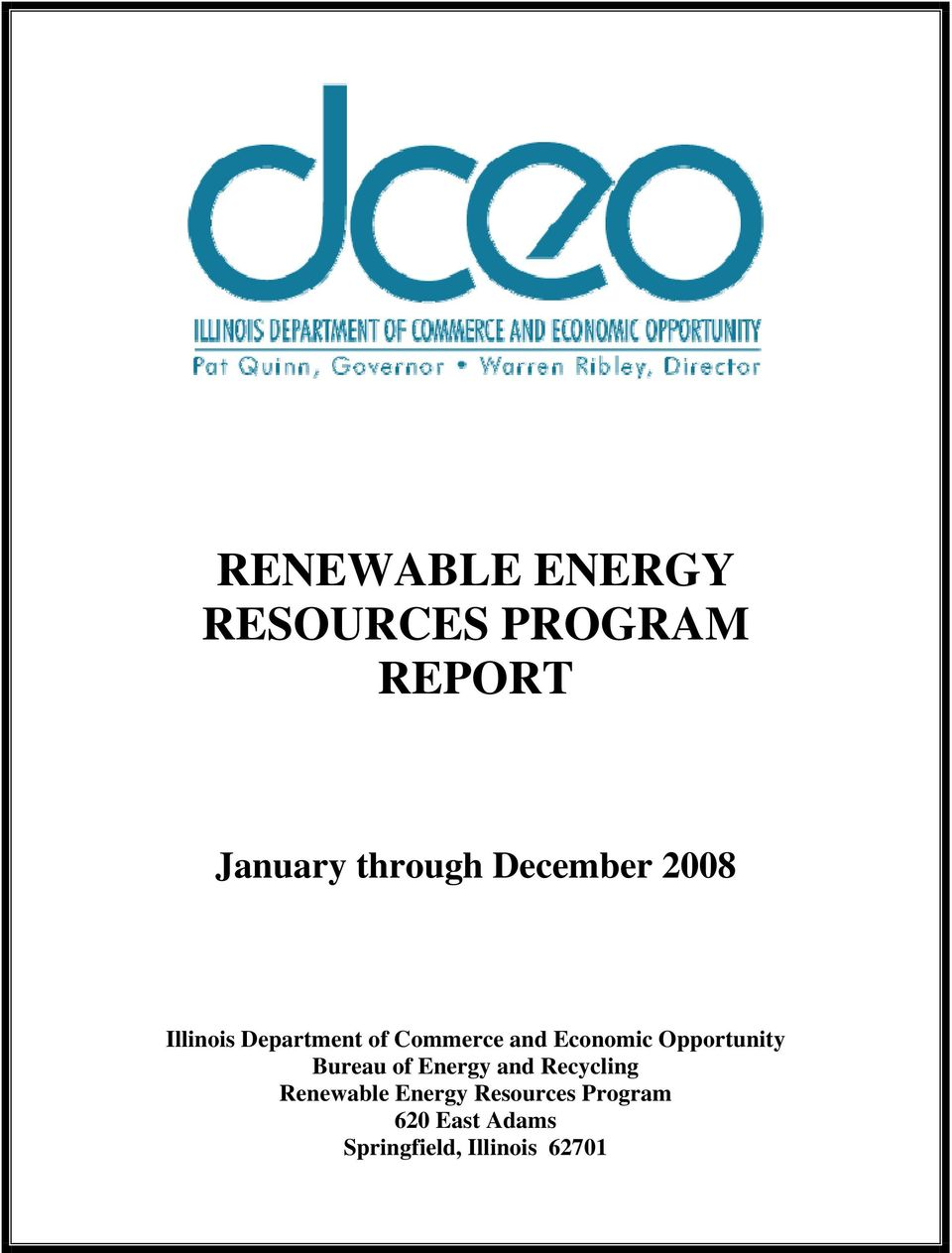 Opportunity Bureau of Energy and Recycling Renewable Energy
