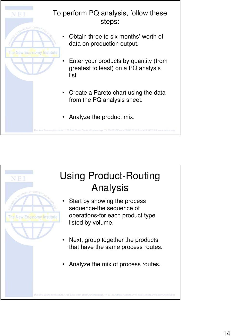 analysis sheet. Analyze the product mix.