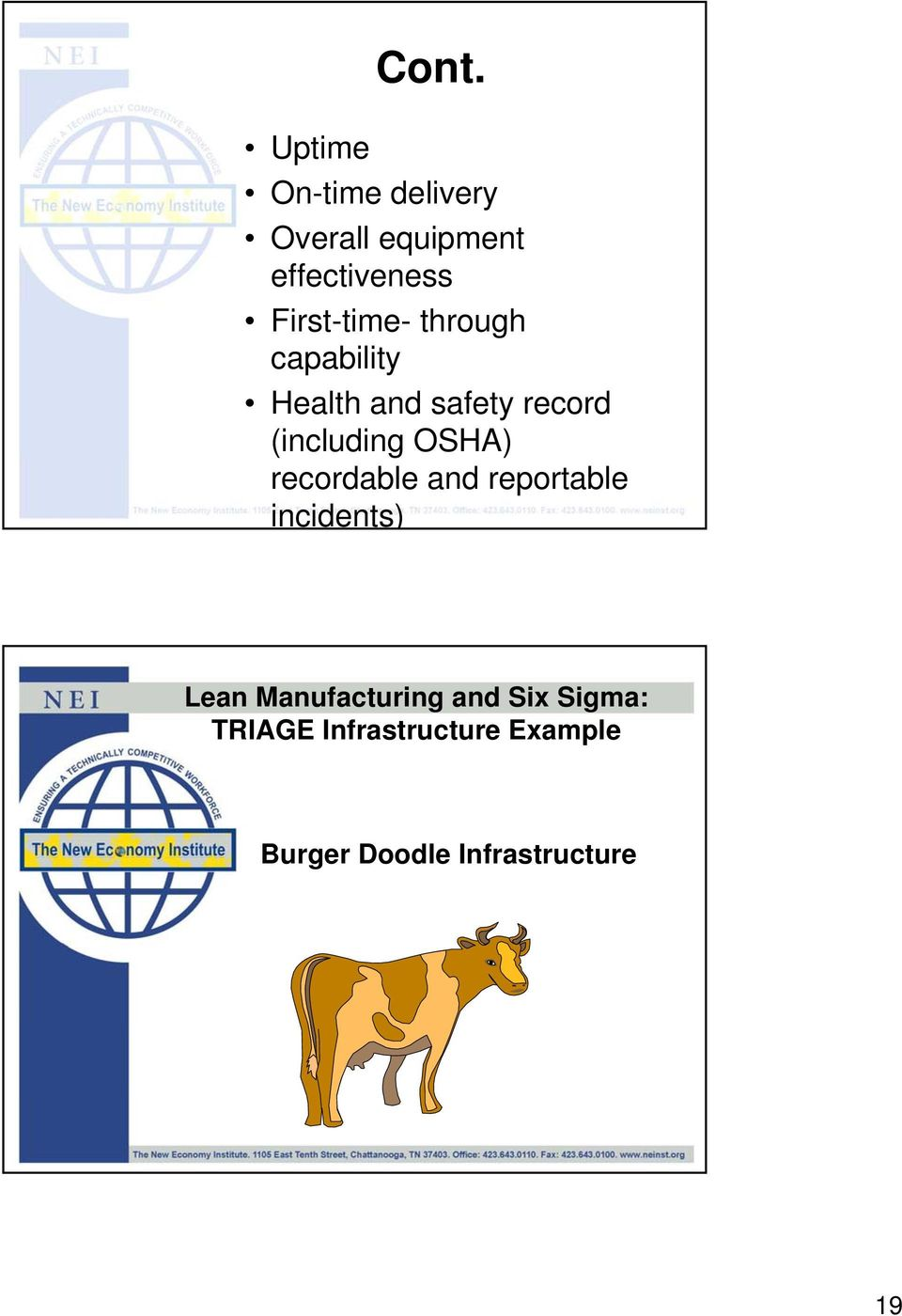 OSHA) recordable and reportable incidents) Lean Manufacturing and