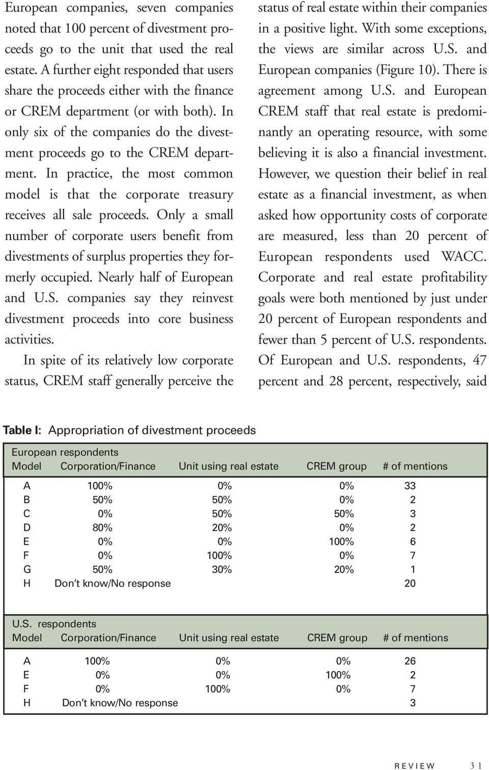 In practice, the most common model is that the corporate treasury receives all sale proceeds.