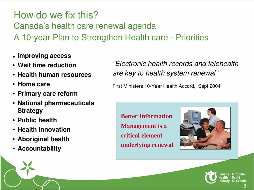 reduction Health human resources Home care Primary care reform National pharmaceuticals Strategy Public health Health