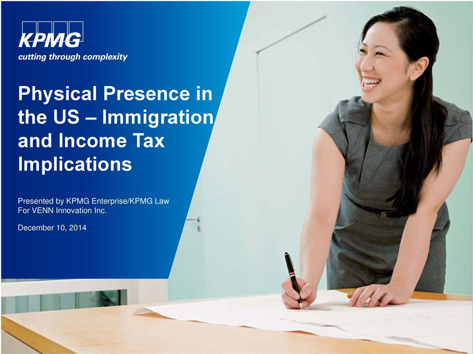 Implications Presented by KPMG