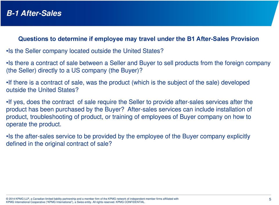 If there is a contract of sale, was the product (which is the subject of the sale) developed outside the United States?