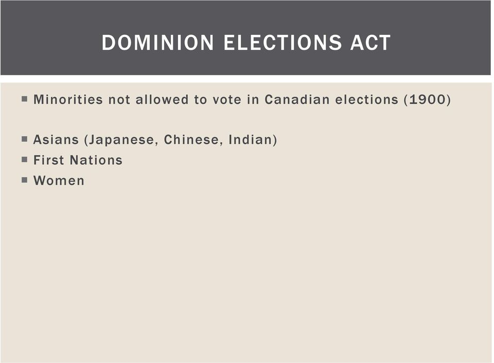elections (1900) Asians (Japanese,