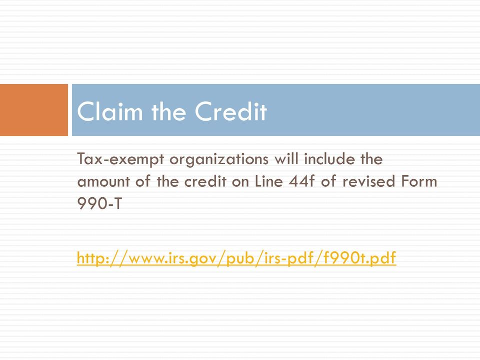 of the credit on Line 44f of revised