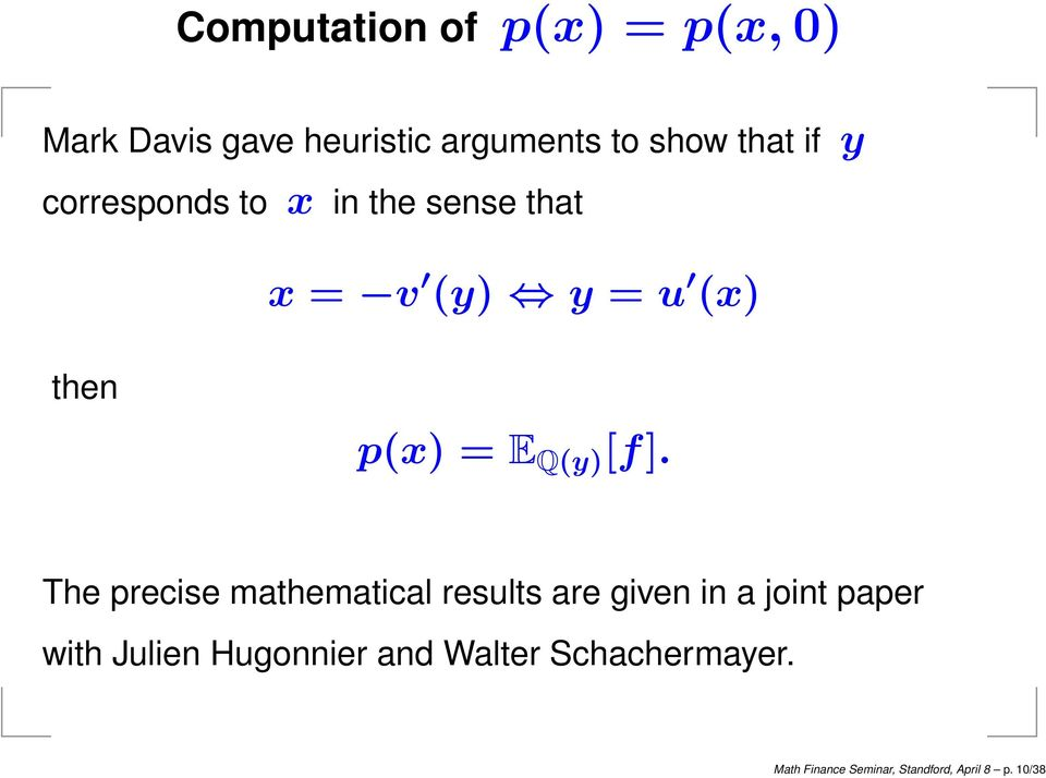 [f]. The precise mathematical results are given in a joint paper with Julien