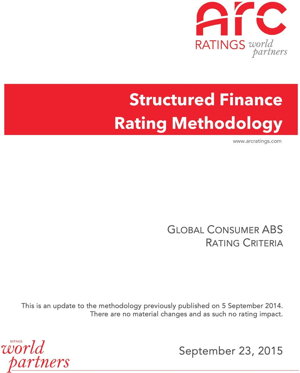 the methodology previously published on 5 September 2014.