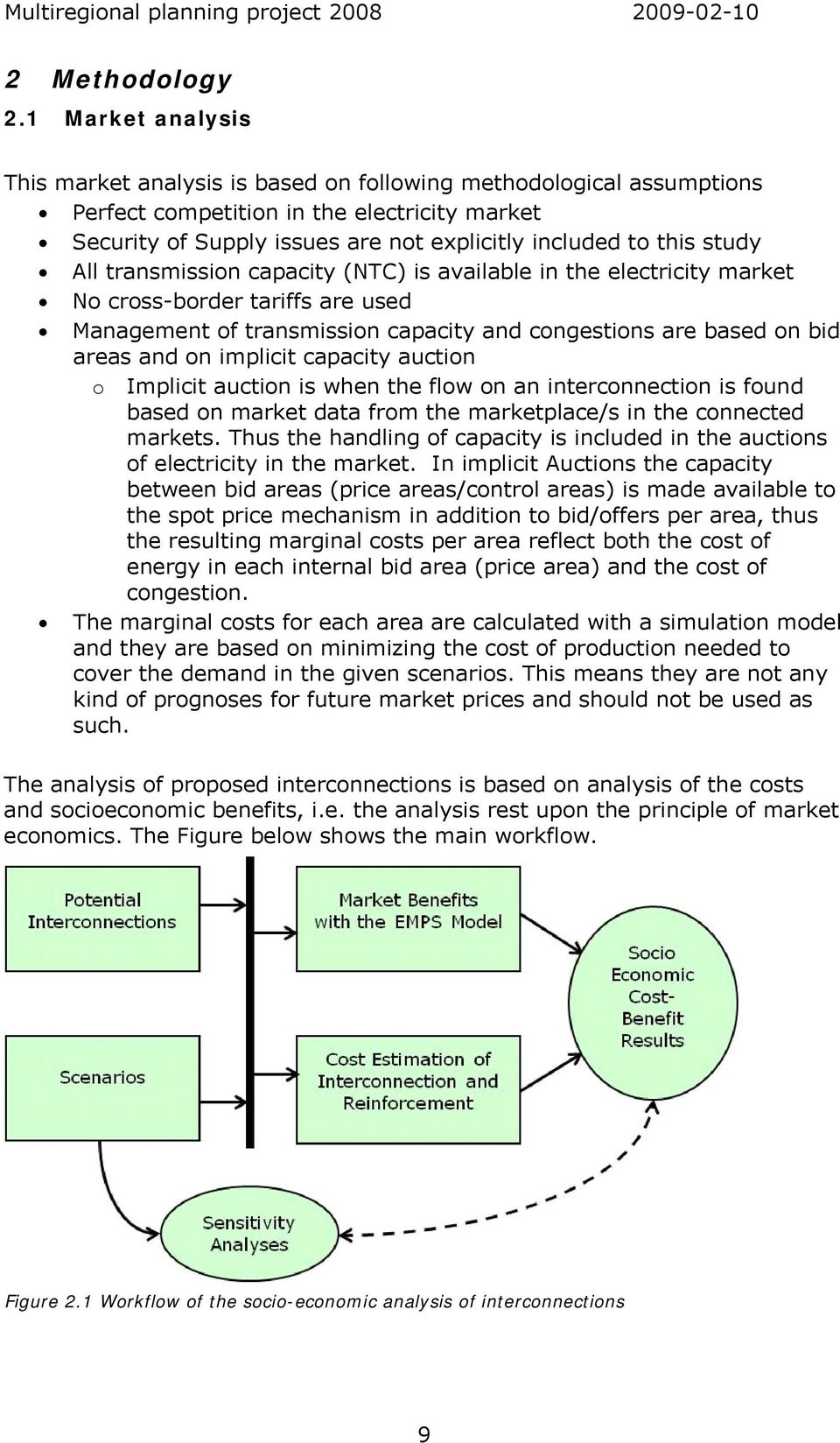 study All transmission capacity (NTC) is available in the electricity market No cross-border tariffs are used Management of transmission capacity and congestions are based on bid areas and on