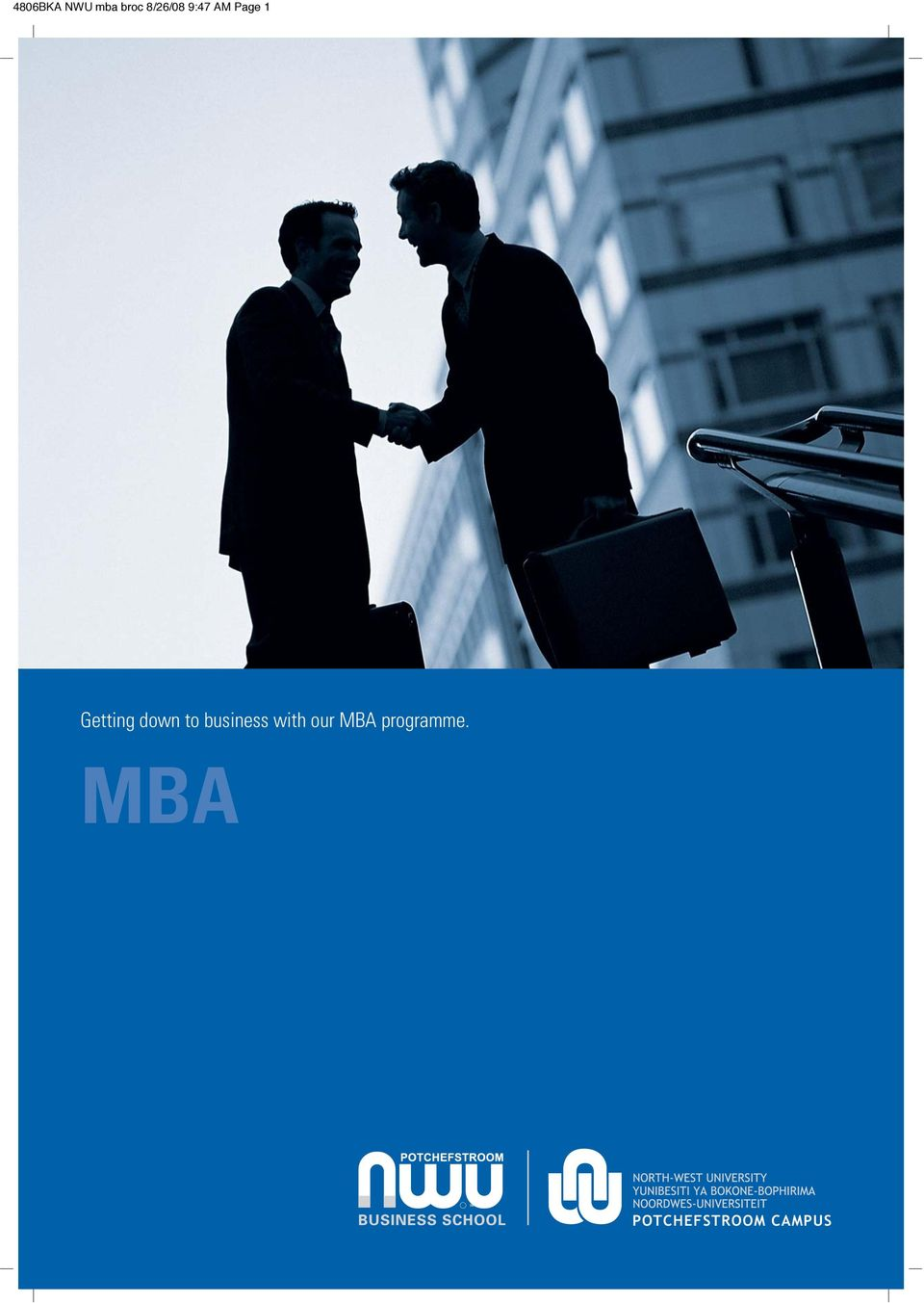 to business with our MBA