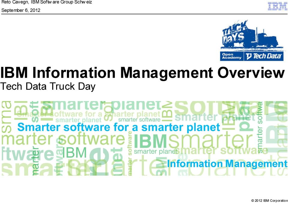 Information Management Overview