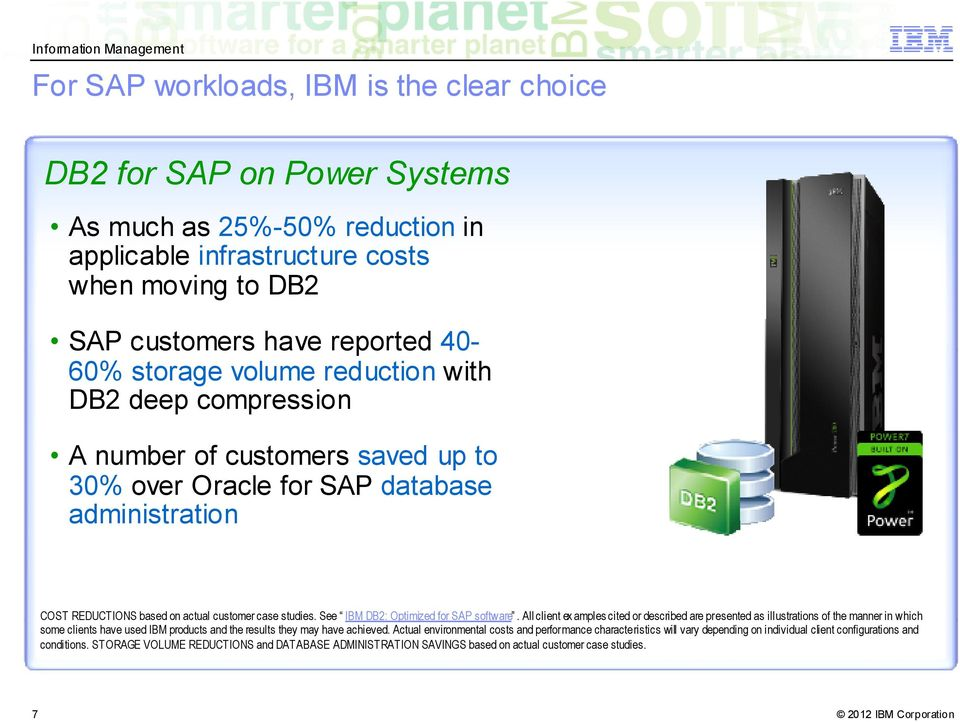 See IBM DB2: Optimized for SAP software.