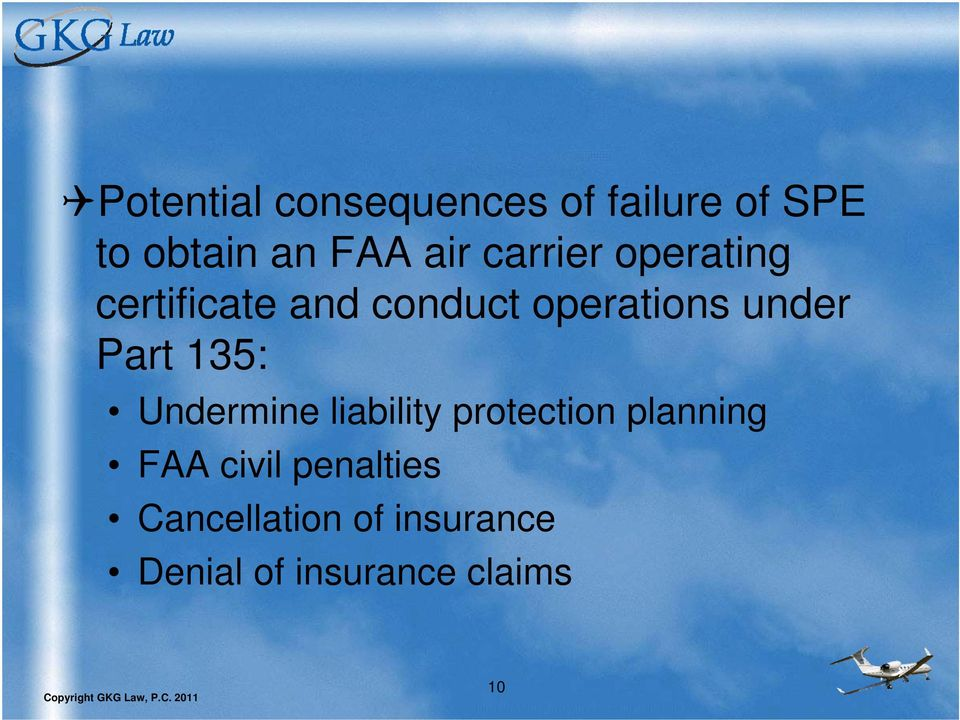 Part 135: Undermine liability protection planning FAA civil
