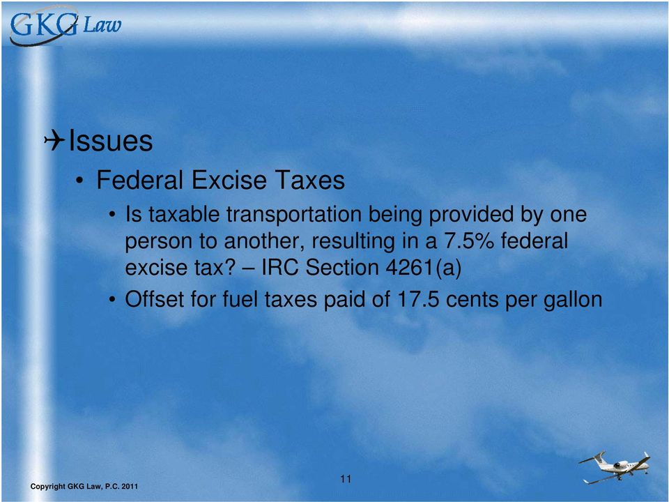 another, resulting in a 7.5% federal excise tax?