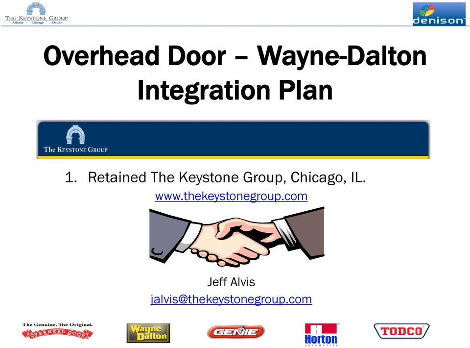 Retained The Keystone Group, Chicago,