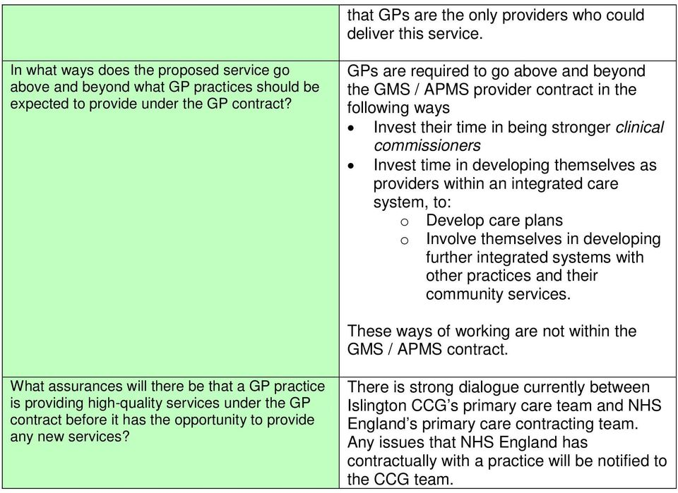 providers within an integrated care system, to: o o Develop care plans Involve themselves in developing further integrated systems with other practices and their community services.