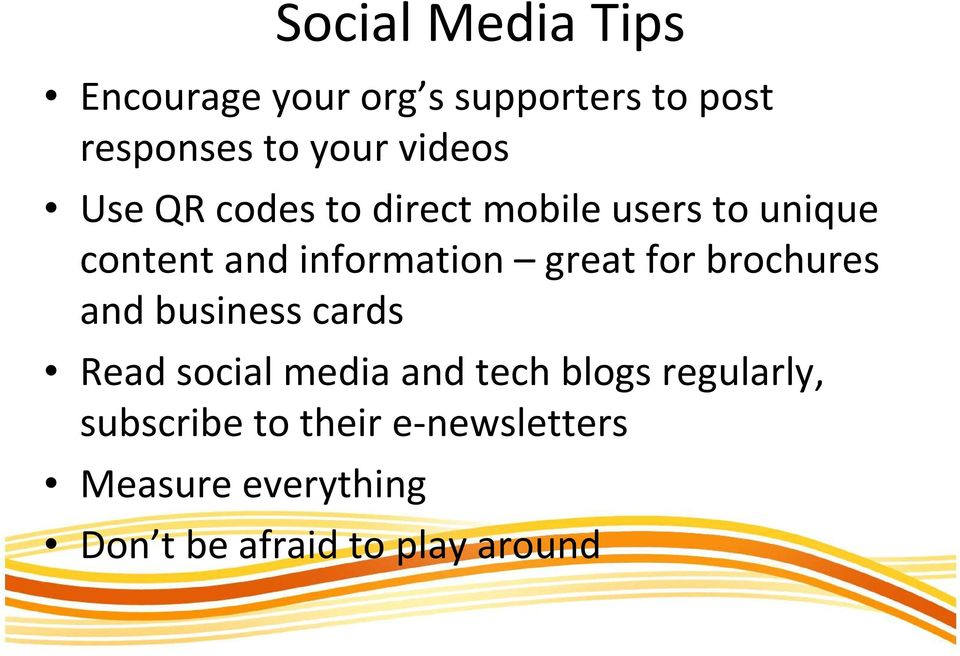 great for brochures and business cards Read social media and tech blogs