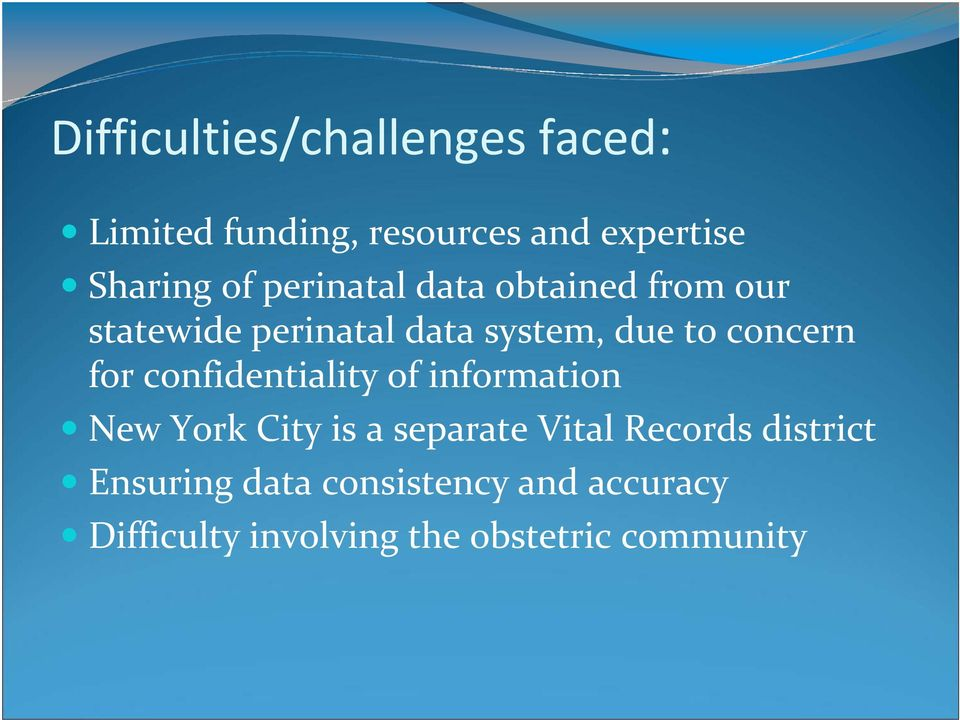 for confidentiality of information New York City is a separate Vital Records