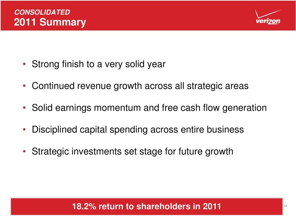 cash flow generation Disciplined capital spending across entire business
