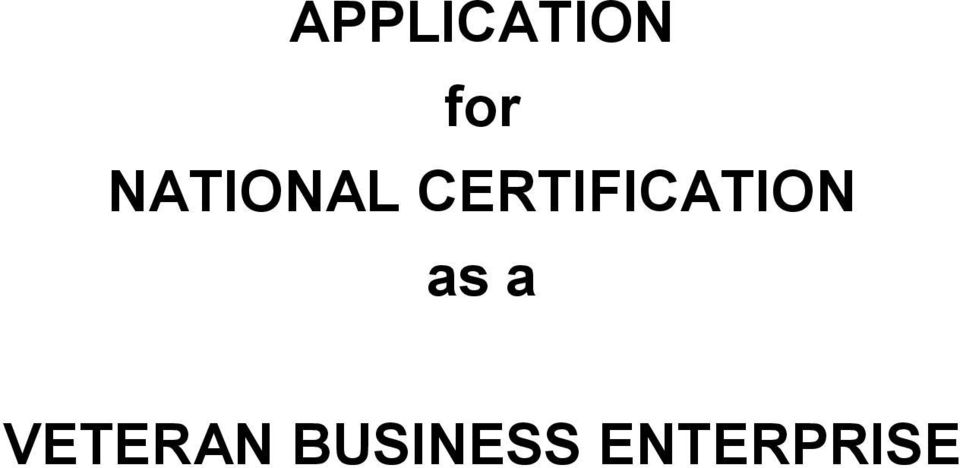 CERTIFICATION as