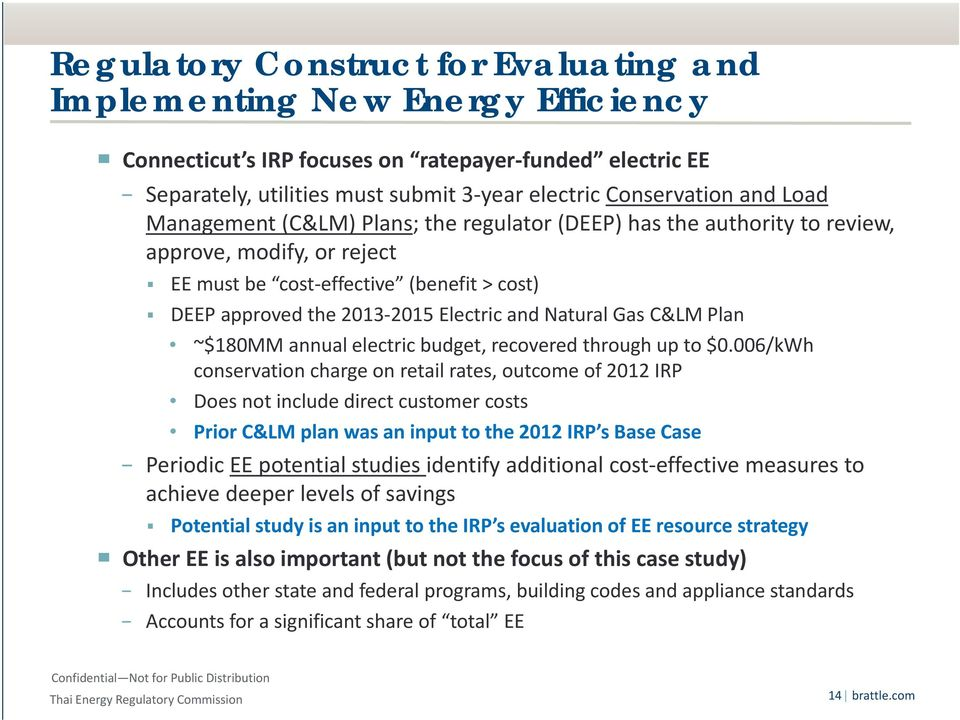 Gas C&LM Plan ~$180MM annual electric budget, recovered through up to $0.